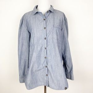 The North Face Chambray Button Front Tunic Shirt
